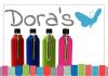 LOGO_Dora's Flasche mit einer Baumwoll-/Filzschutzhülle - 0,7 Liter