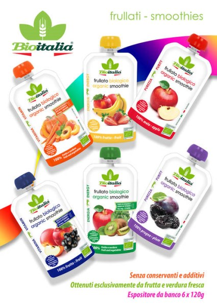 LOGO_Organic Smoothies, made with 100% fresh fruits and vegetables.