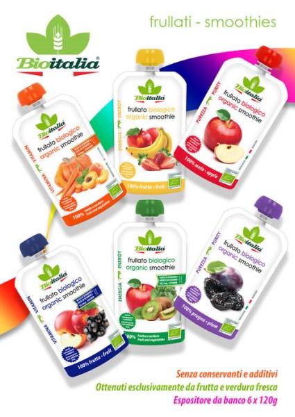 LOGO_Bio-Smoothies, mit 100% Frucht und Gemuse.