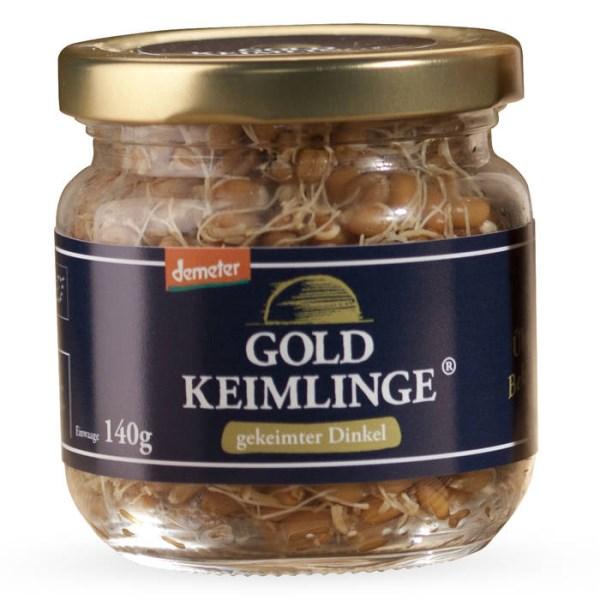 LOGO_Goldkeimlinge - Gekeimter Dinkel im Glas