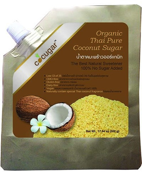 LOGO_Organic Thai Pure Coconut Sugar Granule (Natural golden color)