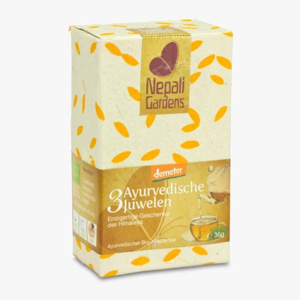 LOGO_Drei Ayurvedische Juwelen DEMETER Ayurveda Kräuter-Tee