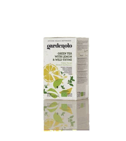 LOGO_Gardenolo Organic Green Tea with Lemon and Wild Thyme
