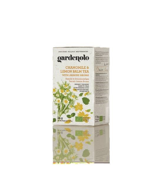 LOGO_Gardenolo Organic Chamomile and Lemon Balm Tea with Jasmine Aroma