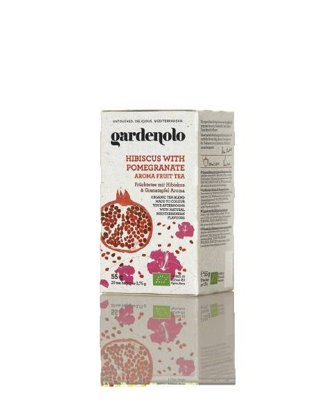 LOGO_Gardenolo Organic Hibiscus Fruit Tea with Pomegranate Aroma