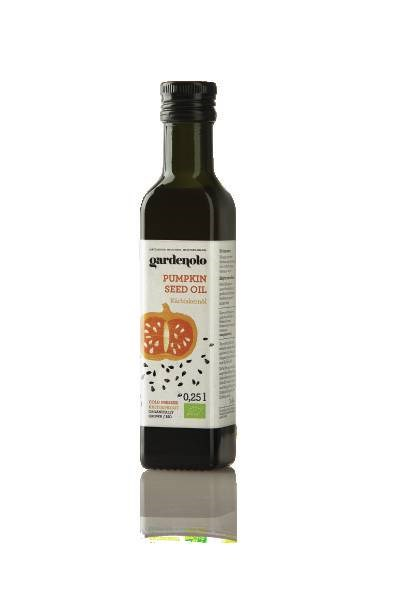 LOGO_Gardenolo Pumpkin seed oil, cold pressed, organically grown