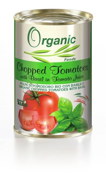 LOGO_Organic chopped tomatoes With basil