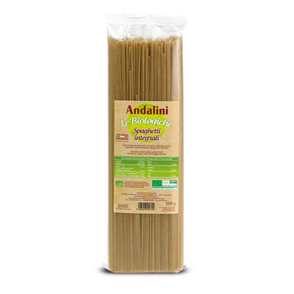"LOGO_ANDALINI ""LE BIOLOGICHE"" – ORGANIC WHOLE WHEAT PASTA"