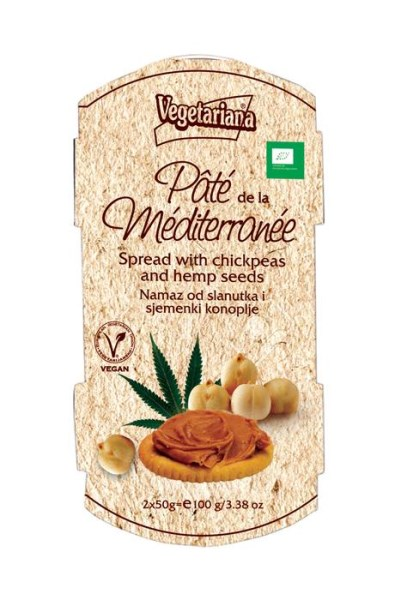 LOGO_Pâte de la méditerranée - Bio spread with chickpeas and hemp seeds