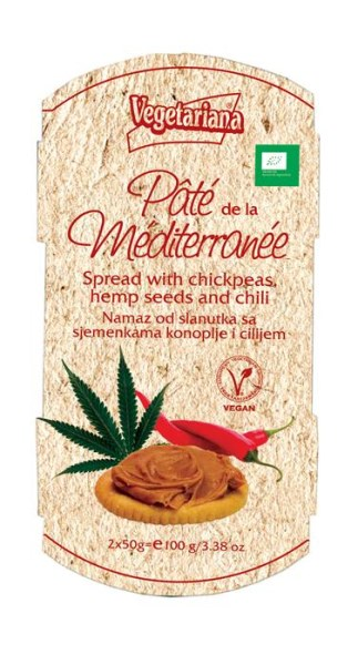 LOGO_Pâte de la méditerranée- Bio spread with chickpeas, hemp seeds and chili
