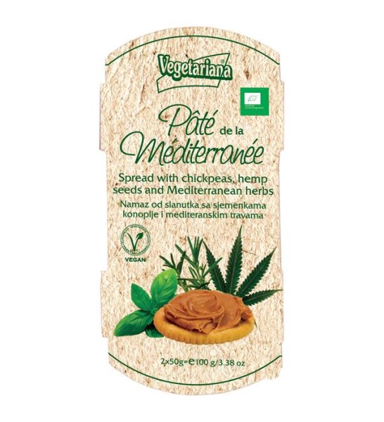 LOGO_Pâte de la méditerranée - Bio spread with chickpeas, hemp seeds and mediterranean herbs