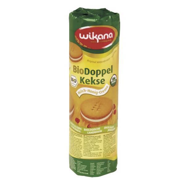 LOGO_Bio Weizen Vollkorn Doppelkeks mit Milch-Honig-Creme, 300 g