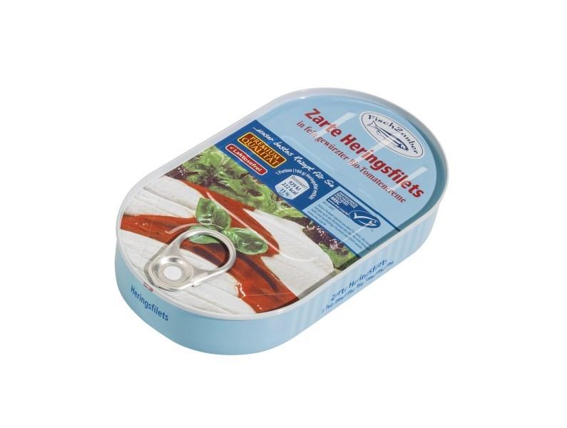 LOGO_FischZauber Heringsfilet in fein gewürzter Bio Tomatencreme