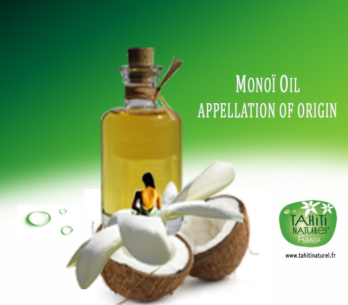 LOGO_100% pure and natural certified Monoï Oil from Tahiti