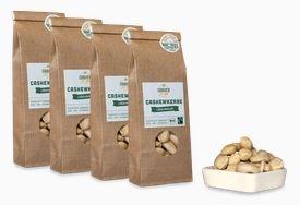LOGO_4x 90g faire Bio-Cashews von der Elfenbeinküste: Naturbelassen
