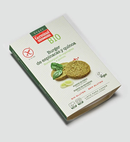 LOGO_FRESH READY MEAL: BURGER PREPARED WITH SPINACH AND QUINOA