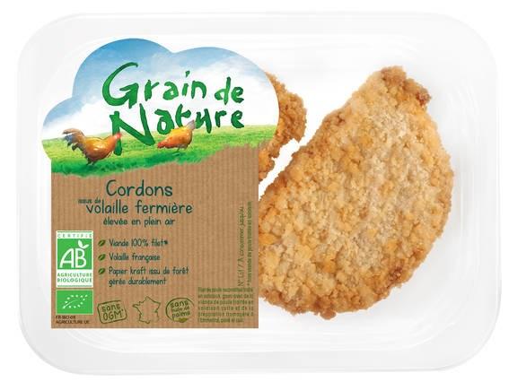 LOGO_Bio-Cordon von Hühnern aus Freilandhaltung Grain de Nature, 100% Filet