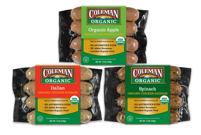 LOGO_COLEMAN ORGANIC® GOURMET CHICKEN SAUSAGES