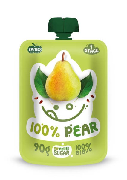 LOGO_ORGANIC Baby food 100% Pear