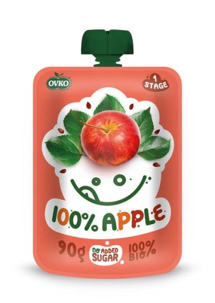 LOGO_ORGANIC Baby food 100% Apple