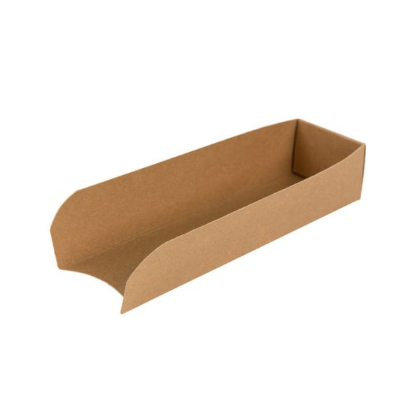 LOGO_Brown hot dog tray, 18 x 5 x 3,5 cm