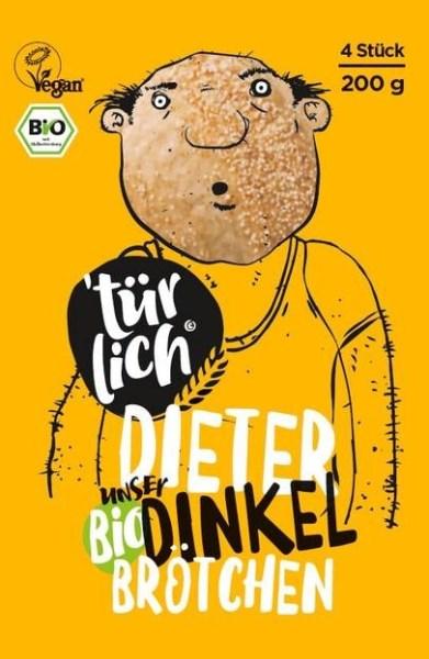 LOGO_`türlich Dieter unser Bio-Dinkelbrötchen, 4 Stück (Neue Marke)