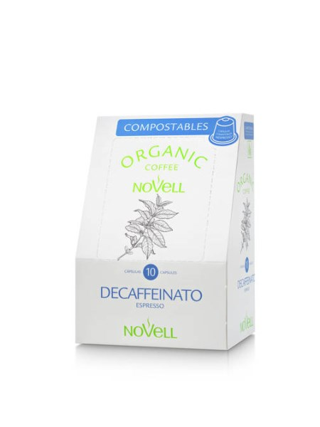 LOGO_NOVELL ORGANIC COMPOSTABLE CAPSULES DECAF