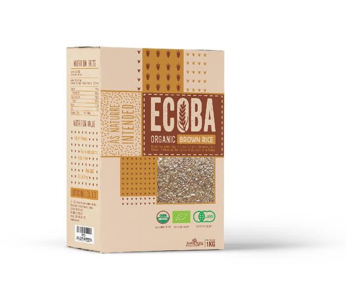 """LOGO_""""ECOBA"""" Organic Brown Rice"""