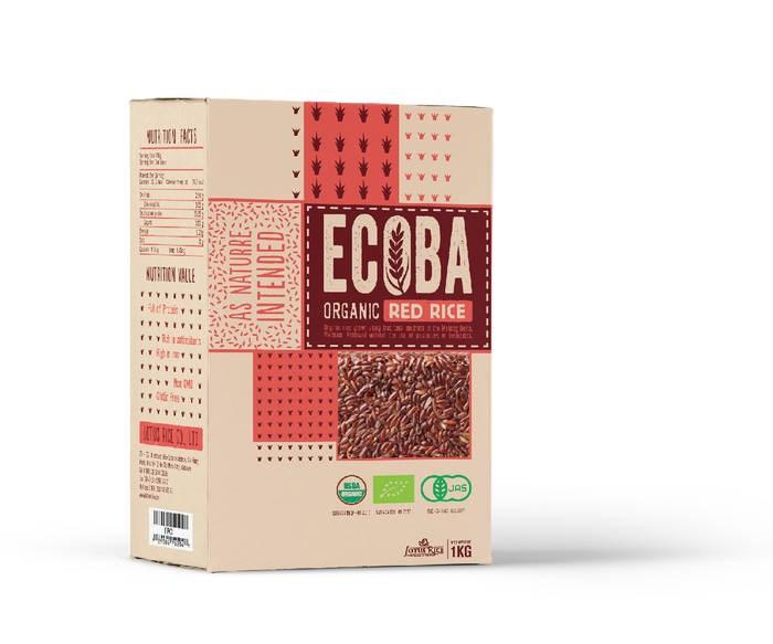 """LOGO_""""ECOBA"""" Organic Red Rice"""