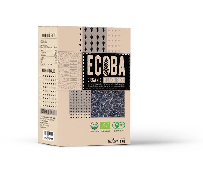 """LOGO_""""ECOBA"""" Organic Black Rice"""