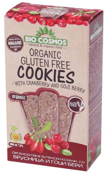 LOGO_Organic gluten-free cookies with cranberry and goji 100g