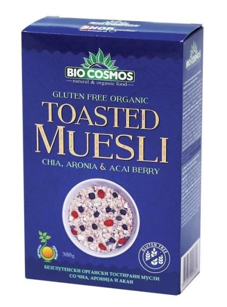 LOGO_Organic gluten-free muesli with chia, aronia & acai 300g