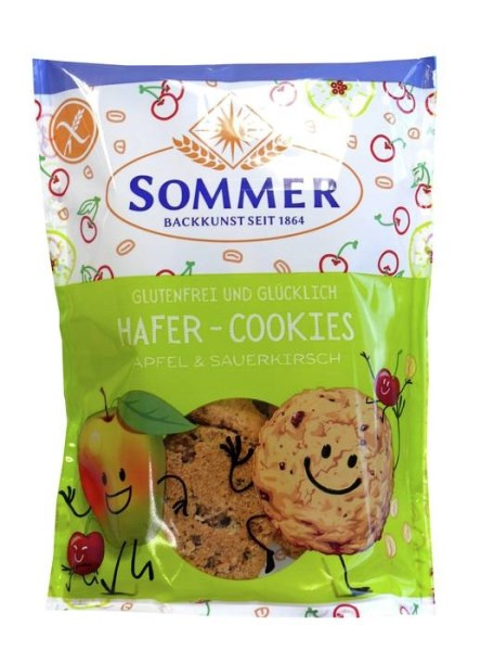 LOGO_GLUTEN FREE AND HAPPY - Oat-Cookie Apple & Sour Cherry