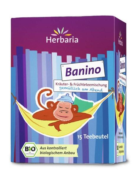 LOGO_Banino - Bio-Kräuter- & Früchteteemischung mit Banane und Lavendelblüten - gemütlich am Abend