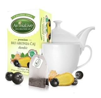 LOGO_100% Biological Aronia Tea with Bio Ginger