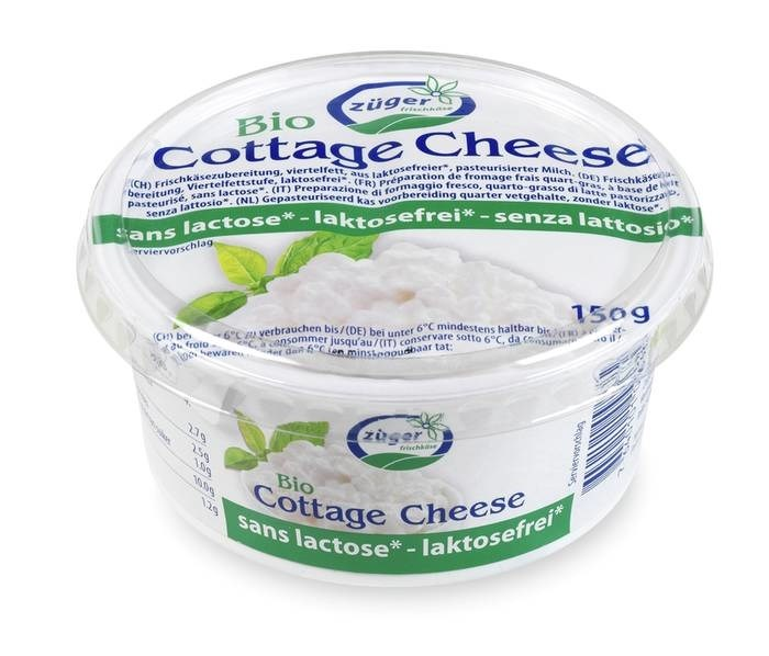 LOGO_Lactose-free organic cottage cheese 150g