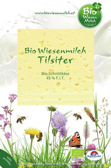 LOGO_Bio Wiesenmilch Tilsiter Slices 100g