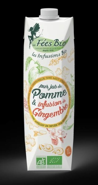 LOGO_Pure apple juice with infusion of ginger. 100% organic