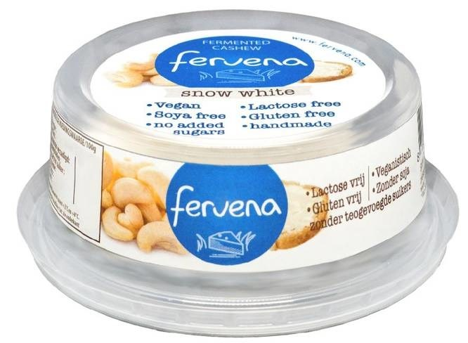 LOGO_Fervena Snow White fermented organic cashew brie alternative
