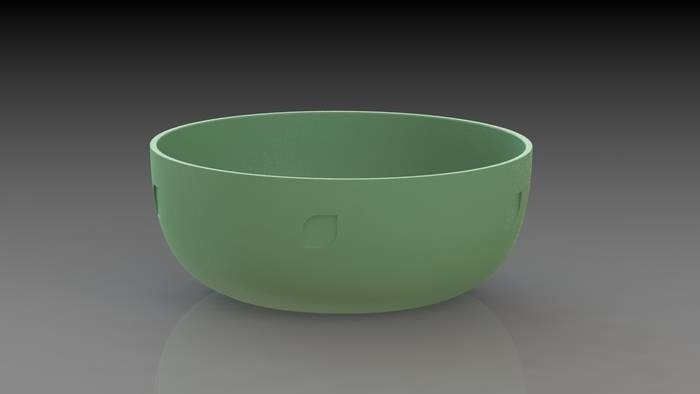 LOGO_Bowl made from renewable raw materials - bioplastic