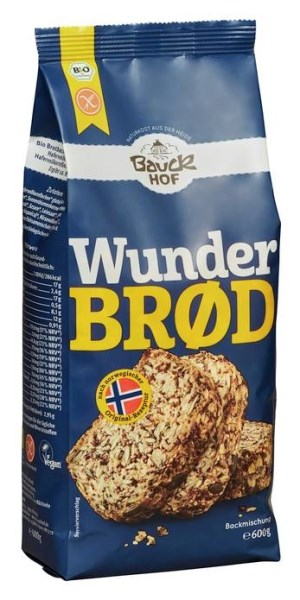 LOGO_Wunderbrød, baking mix for bread, gluten free