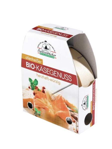 LOGO_Schlierbacher oven-hot organic cheese enjoyment hearty-spicy 150 g