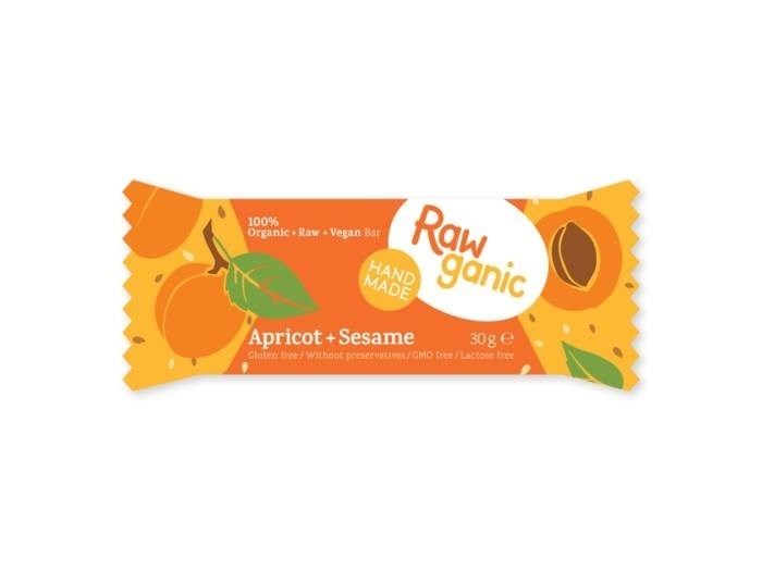 LOGO_RawGanic Aprikose + Sesam - Bioriegel in Rohkostqualität