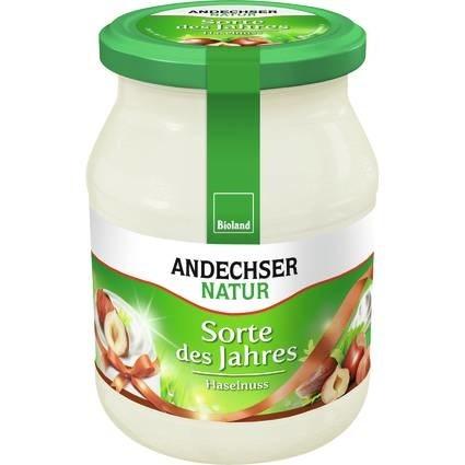 LOGO_ANDECHSER NATUR Mild organic yogurt hazelnut 3.7% 500g
