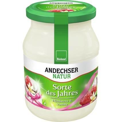 LOGO_ANDECHSER NATUR Mild organic yogurt raspberry-vanilla 3.7% 500g