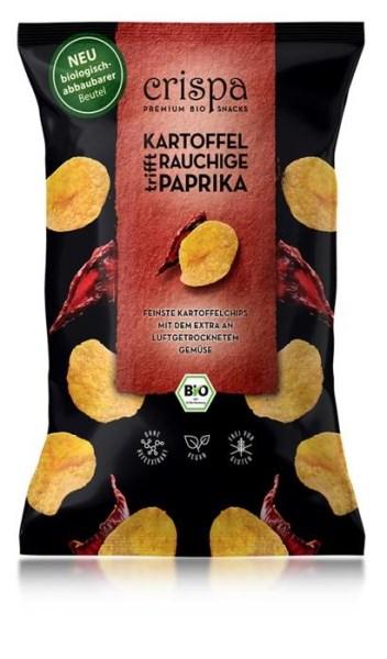 LOGO_crispa Bio Kartoffelchips Rauchige Paprika