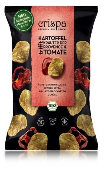 LOGO_crispa Bio Kartoffelchips Kräuter der Provence & Tomate