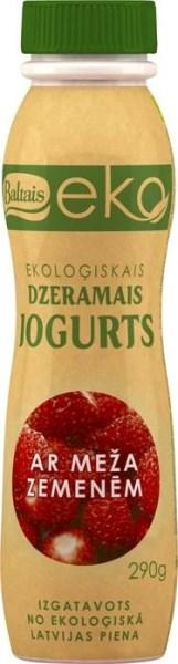 LOGO_Baltais EKO drinking yogurt 290g, (blueberries; forest strawberries)