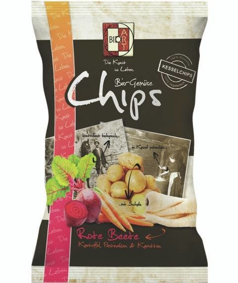 LOGO_BioArt vegetablechips mix 85g (beets, parsnips, carrots, potatoes)