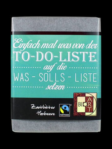 LOGO_BioArt Schoko Poetry To-Do-List 70g, FT-Cert (Dark Raspberry)
